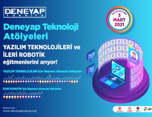 Deneyap Teknoloji Atölyeleri YAZILIM TEKNOLOJİLERİ ve İLERİ ROBOTİK Eğitmenlerini Arıyor!