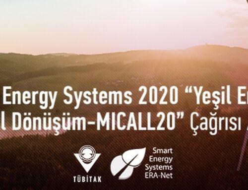 """ERA-Net Smart Energy Systems 2020 """"Yeşil Enerji Geçişi için Dijital Dönüşüm-MICALL20"""" Çağrısı Açıldı"""